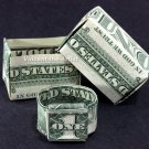Money Origami Gift Box AND Ring - Dollar Bill Art - Made with real $1 Cash