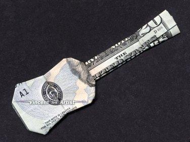 $20 Bill Money Origami UKULELE - GUITAR Dollar Bill Art - Made w/ real $20 Cash