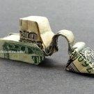 $20 bill Money Origami EXCAVATOR - Dollar Bill Art - Made with Real $20.00 Cash