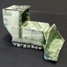 Money Origami BULLDOZER - Dollar Bill Art - Made with $1.00 Bill Cash