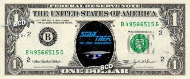 STAR TREK 9-set The Next Generation Collector Pack on REAL DOLLAR Bills TNG Cash