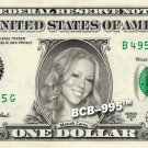 MARIAH CAREY on REAL Dollar Bill - Collectible Celebrity Custom Cash Money Art