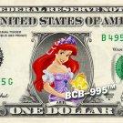 Disney's Ariel (Little Mermaid) on REAL Dollar Bill - Collectible Cash Money
