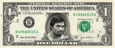 MANNY PACQUIAO on REAL Dollar Bill Cash Money Collectible Memorabilia Celebrity