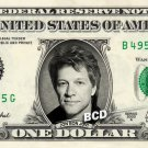 JON BON JOVI on REAL Dollar Bill - Celebrity Cash Money Art