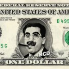 GROUCHO MARX on REAL Dollar Bill Spendable Cash Celebrity Money Mint