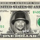 KID ROCK on a REAL Dollar Bill Cash Money Collectible Memorabilia Celebrity Bank