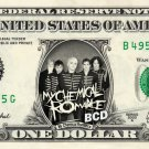 MY CHEMICAL ROMANCE on REAL Dollar Bill - Collectible Celebrity Cash Money Art