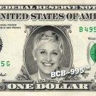 ELLEN DEGENERES on REAL Dollar Bill - Celebrity Collectible Custom Cash