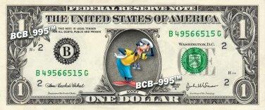 Disney's Goofy on REAL Dollar Bill - Collectible Cash Money