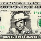 HANK WILLIAMS on a REAL Dollar Bill Cash Money Collectible Memorabilia Celebrity Bank Note