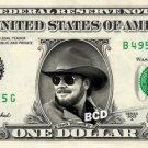 HANK WILLIAMS JR on a REAL Dollar Bill Cash Money Collectible Memorabilia Celebrity