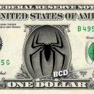 SPIDERMAN LOGO on REAL Dollar Bill - Collectible Celebrity Custom Cash Money Art