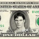SUPERMAN on REAL Dollar Bill Spendable Money Cash Christopher Reeve Clark Kent