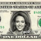 JESSICA ALBA on REAL Dollar Bill Spendable Cash Celebrity Money Mint