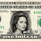 ANGELINA JOLIE on Real Dollar Bill - $1 Celebrity Bill Custom Collectible Cash