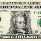 ANDREW JACKSON on REAL Dollar Bill Cash Money Collectible Memorabilia Celebrity