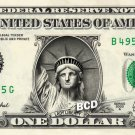 STATUE OF LIBERTY on REAL $1 Dollar Bill - Spendable Cash Celebrity Money Mint