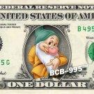 Disney's BASHFUL - 7 Dwarfs on REAL Dollar Bill -  Celebrity Cash Money Dwarves