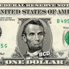 ABRAHAM LINCOLN on REAL $1 Dollar Bill - Spendable Cash Celebrity Money Mint