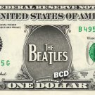 THE BEATLES LOGO on REAL Dollar Bill Spendable Cash Celebrity Money Mint