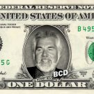 KENNY ROGERS on REAL Dollar Bill Collectible Cash Celebrity Money Mint $1.00
