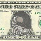 Disney's Cheshire Cat (Alice in Wonderland) - Dollar Bill - REAL Money!!!