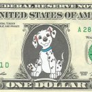 Disney's 101 Dalmations - {Color} Dollar Bill - REAL Money!