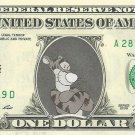 Disney's Tigger (Winnie the Pooh) - Dollar Bill - REAL Money! Not just a novelty