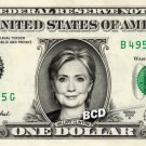 HILLARY CLINTON on REAL Dollar Bill Cash Money Collectible Memorabilia Celebrity