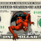 SPIDERMAN on REAL Dollar Bill - Celebrity Cash - Money Art Gift