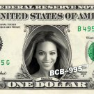 BEYONCE on a REAL Dollar Bill Cash Money Collectible Memorabilia Celebrity Bank