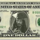 JACK SPARROW on REAL Dollar Bill - Disney Cash Money Bank Note Currency Dinero