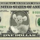 KANGA ROO - Winnie The Pooh On Real Dollar Bill - Cash Money Bank Note Currency