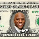 FLOYD MAYWEATHER on REAL Dollar Bill - Cash Money Bank Note Currency Dinero