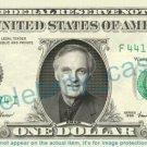 ALAN ALDA - MASH - on REAL Dollar Bill - Cash Money Bank Note Currency Dinero