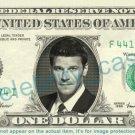 DAVID BOREANAZ Bones on REAL Dollar Bill - Cash Money Bank Note Currency Dinero