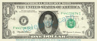DAVID SCHWIMMER on REAL Dollar Bill Cash Money Bank Note Currency Celebrity