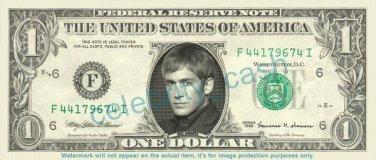 ERIC SZMANDA Greg Sanders CSI on REAL Dollar Bill Cash Money Celebrity Dinero