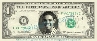 Roshon Fegan RO SHON Singer on REAL Dollar Bill Cash Money Bank Note Currency