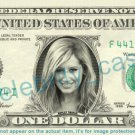 ASHLEY TISDALE on REAL Dollar Bill Cash Money Bank Note Currency Dinero Celebrity