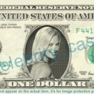 CHARLIZE THERON on REAL Dollar Bill Cash Money Bank Note Currency Dinero Celebrity
