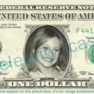 DAKOTA FANNING on REAL Dollar Bill Cash Money Bank Note Currency Dinero Celebrity