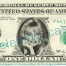 GOLDIE HAWN on REAL Dollar Bill Cash Money Bank Note Currency Dinero Celebrity