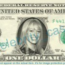 HILARY DUFF on REAL Dollar Bill Cash Money Bank Note Currency Dinero Celebrity