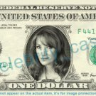 JANE SEYMOUR on REAL Dollar Bill Cash Money Bank Note Currency Dinero Celebrity