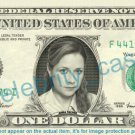 JENNA FISCHER Pam Beesly-Halper The Office on REAL Dollar Bill Cash Money Bank Note Currency Dinero