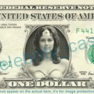 LYNDA CARTER on REAL Dollar Bill Cash Money Bank Note Currency Dinero Celebrity