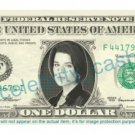NEVE CAMPBELL Julia Salinger Party of Five on REAL Dollar Bill Cash Money Bank