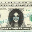 VANESSA HUDGENS on REAL Dollar Bill Cash Money Bank Note Currency Dinero Celebrity
